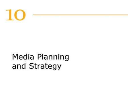 Media Planning and Strategy. Satellite radio stations 2 Satellite radio stations 2 The Traditional Media Landscape Broadcast networks (TV and cable) 100.