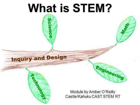 Science Technology Inquiry and Design Math Engineering What is STEM? Module by Amber O'Reilly Castle/Kahuku CAST STEM RT.