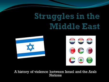 A history of violence between Israel and the Arab Nations.