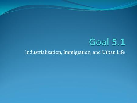 Industrialization, Immigration, and Urban Life. Immigration Writing Part 1: Research 4 aspects of immigration. Keep notes on your research as you will.