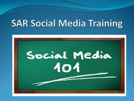 SAR Social Media Training https://youtu.be/0eUeL3n7fDs.