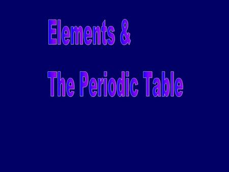 What is the periodic table? compact way of organizing elements contains a lot of information allows us to make predictions about behavior and properties.