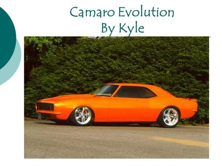 Camaro Evolution By Kyle. Muscle Car Yenko Chevrolet, located in Canonsburg, Pennsylvania, was one of largest and most popularly known custom muscle car.