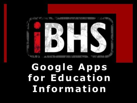 Google Apps for Education Information. Each student has email  The email is in within a Google domain set up specifically for Belton ISD as MyBISD.net.
