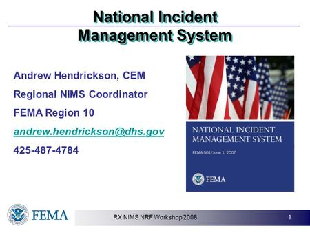 a description of the national incident management system nims according to molino