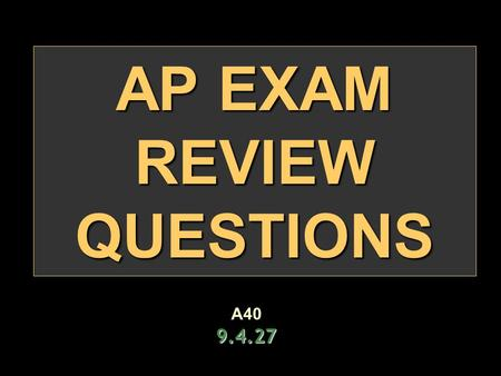 "AP EXAM REVIEW QUESTIONS A409.4.27. Colonial ""Throughout the colonial period, economic concerns had more to do with the settling of British North America."