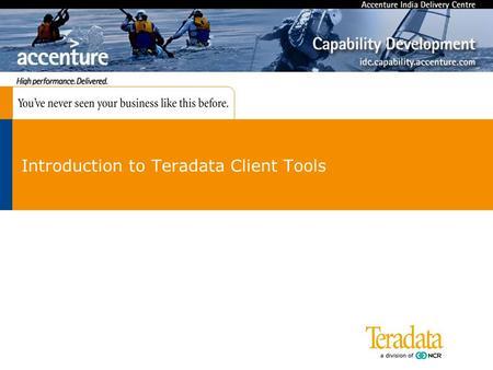 teradata client tools download