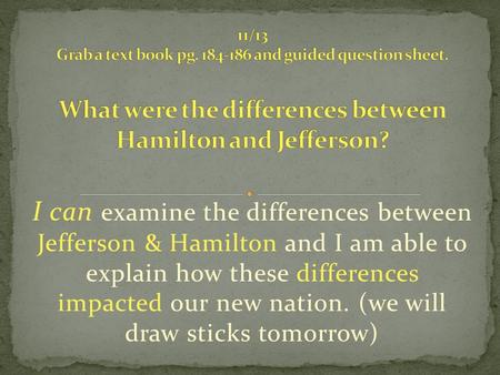 comparison between jefferson and hamilton essay Comparison between thomas jefferson in six pages this comparative essay examines these in six pages the ideologies of hamilton and jefferson are.