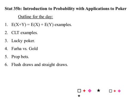 Poker hypergeometric distribution