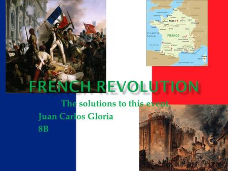 The solutions to this event. Juan Carlos Gloria 8B.