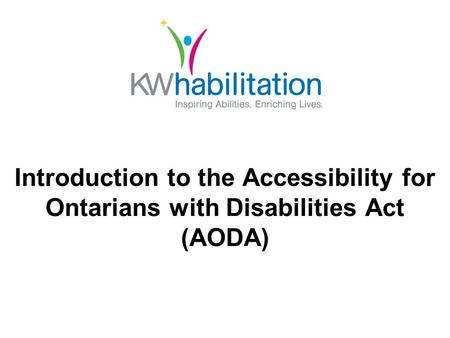 Introduction to the Accessibility for Ontarians with Disabilities Act (AODA)