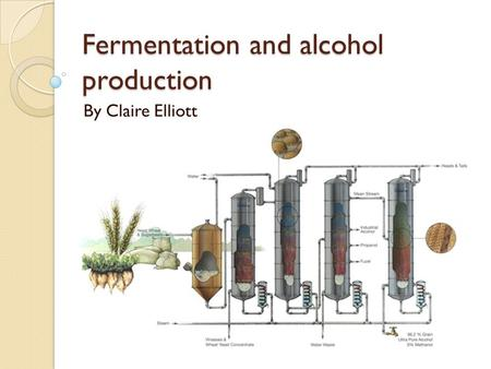 Fermentation and alcohol production By Claire Elliott.