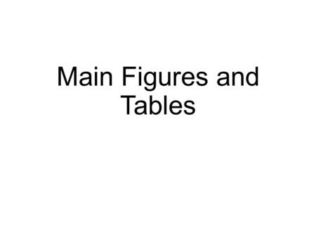 Main Figures and Tables. Figure 1 Strategy (shall we make a strategy figure here?? )