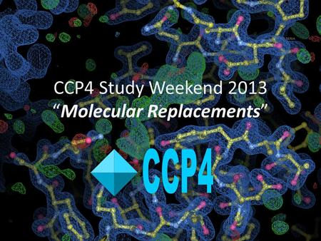 "CCP4 Study Weekend 2013 ""Molecular Replacements"""