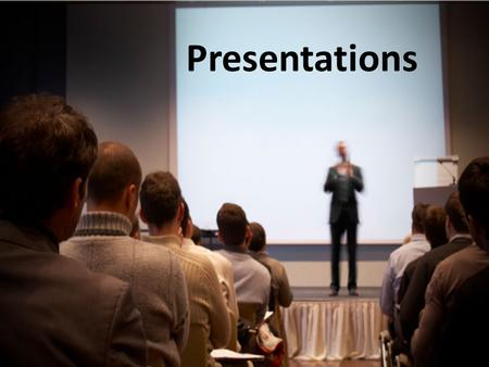 Presentations. We have spent the last couple of weeks developing PowerPoints that are an aid for presenters during important presentations When are presentations.