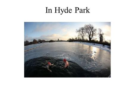 In Hyde Park. To avoid toothaches in the coming year, tradition says you should bathe on Christmas Day. (Illustration by Joel Holland)