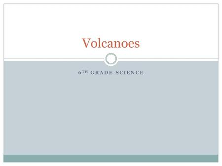 6 TH GRADE SCIENCE Volcanoes. Intro Set-up the next page in your journal titled Volcanoes. Make a list of things you already know about volcanoes.