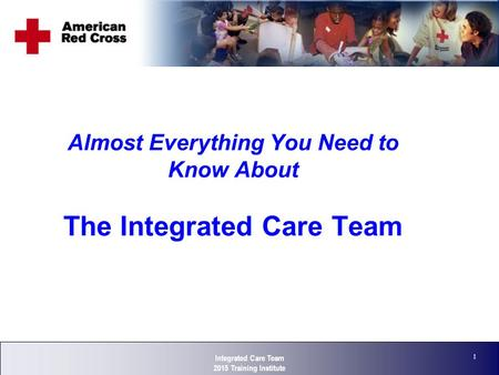 Corporate Strategy 1 Almost Everything You Need to Know About The Integrated Care Team Integrated Care Team 2015 Training Institute.