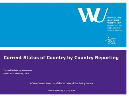 Current Status of Country by Country Reporting