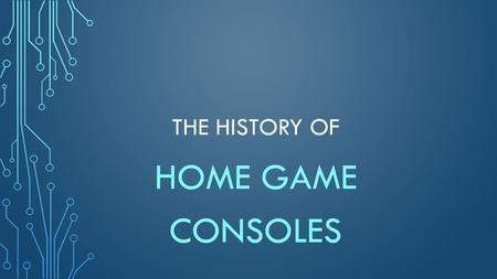 THE HISTORY OF HOME GAME CONSOLES. FIRST PROTOTYPE HOME CONSOLE 1968.