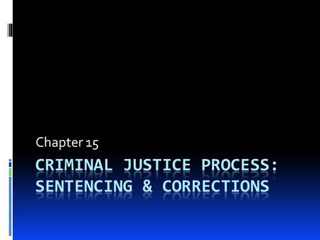 Chapter 15. Sentencing Options  Can be one or combination of the following depending in the state  Suspended sentence – sentence is given but does not.