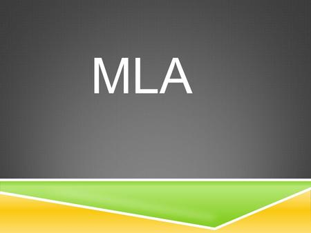 MLA. MLA Guidelines for Essay Format  Modern Language Association  This style is most commonly used to format papers and cite sources.  You will be.