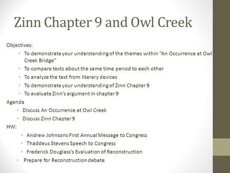 zinn chapter summaries Summary of columbus by zinn - download as word doc (doc), pdf file (pdf), text file (txt) or read online.