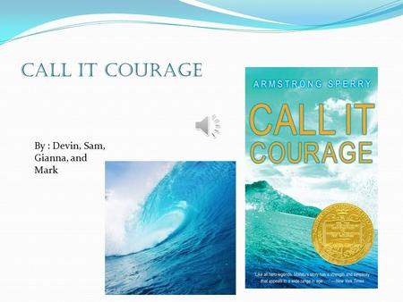 CALL IT COURAGE By : Devin, Sam, Gianna, and Mark.