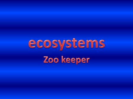 Zoo keepers require a number of skills to be successful. For instance they must work well both on their own and as part of a team. Having good communication.
