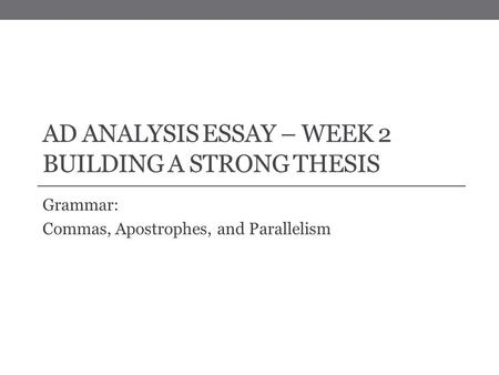 essay related to cango full week 3 video tutorial analysis