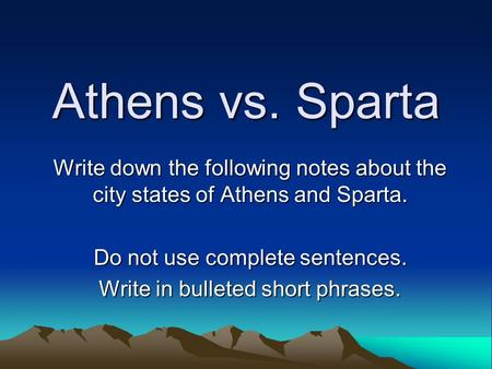essay on athens and sparta Athens vs sparta during the times of ancient greece, two major forms of government existed, democracy and oligarchy the city-states of athens and sparta are the best representatives of democracy and oligarchy, respectively the focus of the times was directed towards military capabilities, while the athenians were more.