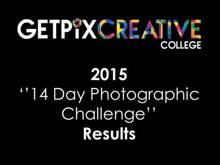 2015 ''14 Day Photographic Challenge'' Results. APPLES.