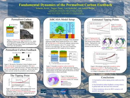 Fundamental Dynamics of the Permafrost Carbon Feedback Schaefer, Kevin 1, Tingjun Zhang 1, Lori Bruhwiler 2, and Andrew Barrett 1 1 National Snow and Ice.