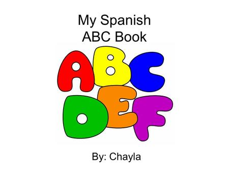My Spanish ABC Book By: Chayla. A is for… apple (manzana)