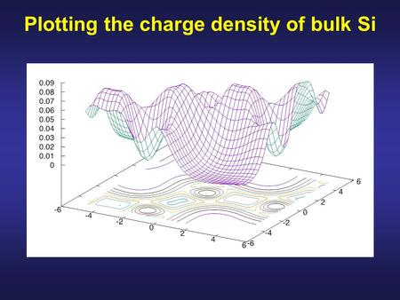 Plotting the charge density of bulk Si