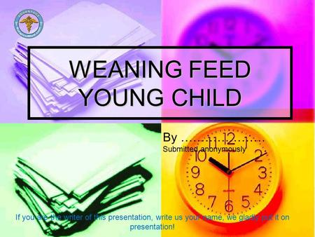 WEANING FEED YOUNG CHILD