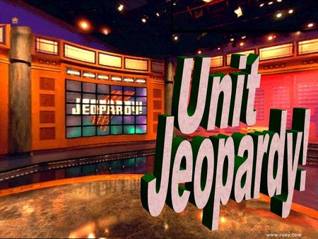 Unit Jeopardy 100 200 100 200 300 400 500 300 400 500 100 200 300 400 500 100 200 300 400 500 100 200 300 400 500 30 Years War Absolutism Western.