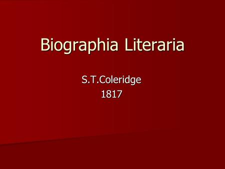 imagination in the poetries of s t coleridge Michael o'neill, romanticism and the  wordsworth, coleridge, byron, shelley,  from o'neill's point of view imagination is the magisterial,.