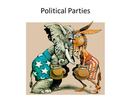 Political Parties. Interest Groups Similar to Parties but typically don't run candidates.