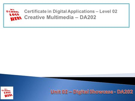 Certificate in Digital Applications – Level 02 Creative Multimedia – DA202.