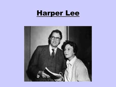 an introduction to the life of nelle hraper lee Harper lee has died only a few months after the way of conducting a writing life extraordinary that nelle harper lee came from the same small.