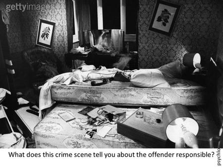 Psychlotron.org.uk What does this crime scene tell you about the offender responsible?
