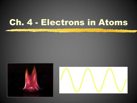 C. Johannesson Ch. 4 - Electrons in Atoms. Section 1 The Development of a New Atomic Model Objectives Explain the mathematical relationship among the.