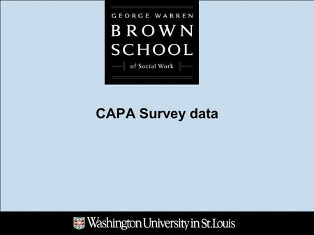 CAPA Survey data. Where do CAPA members work? What is my position?
