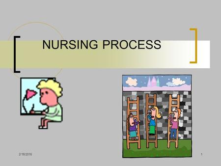 2/18/20161 NURSING PROCESS 2/18/20162 Definition Nursing process is a systematic method of giving humanistic care that focuses on achieving desired outcomes.