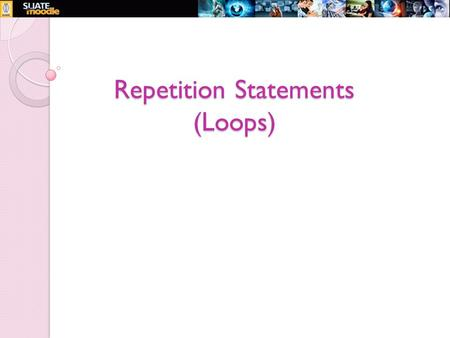 Repetition Statements (Loops). 2 Introduction to Loops We all know that much of the work a computer does is repeated many times. When a program repeats.