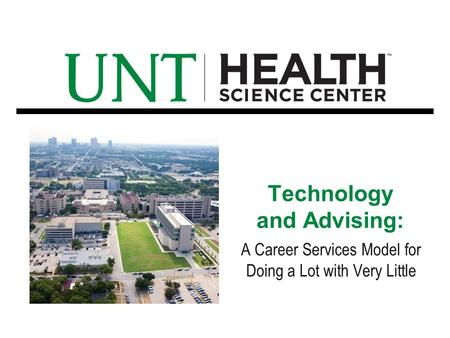 Technology and Advising: A Career Services Model for Doing a Lot with Very Little.