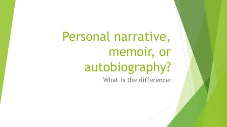 Autobiographical incident essay powerpoint