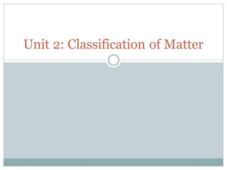 Unit 2: Classification of Matter. Opener Copy the question and answers Which representation is a structural formula?  A. O  B. OH  C. H 2 O 2  D.