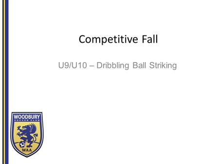 Competitive Fall U9/U10 – Dribbling Ball Striking.
